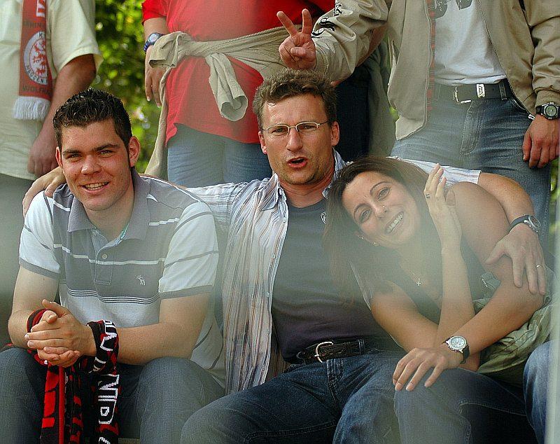 Mitgereiste KSV-Fans in Stuttgart (Foto: Baur)