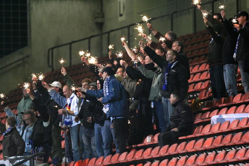 durften heute den Sieg Feiern: 1860-Fans nach dem 3:0