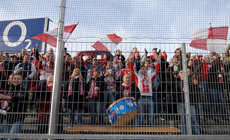 Kasseler Fan-Block im Dietmar-Hopp-Stadion