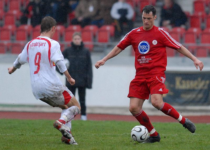 Michael K�mmerle (rechts) gegen VFB II Mann Manuel Fischer