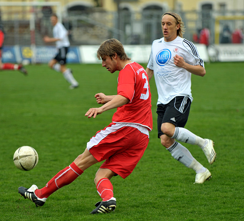 Torsch�tze Daniel Beyer (KSV Hessen Kassel) (R) gegen David Romminger