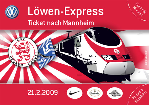Tickets L�wen Express III Mannheim 21.2.09