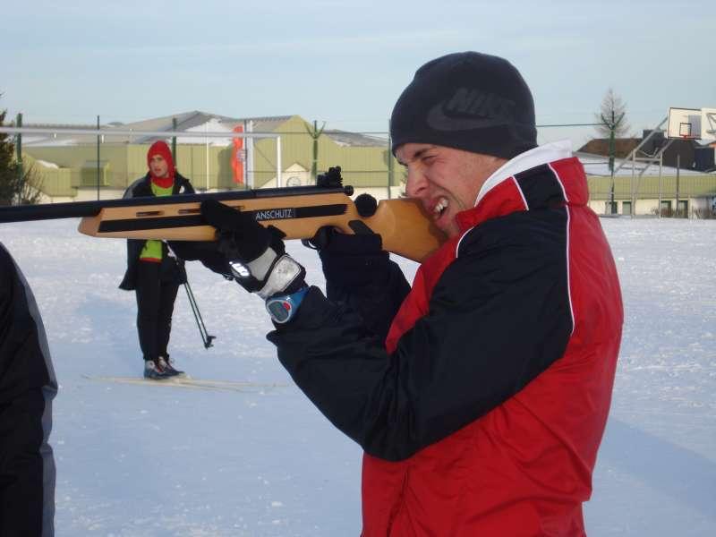 Daniel M�ller war einer der besten beim Biathlon...treffsicher und flott auf den Skiern