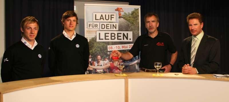 Tornie, Marcel Stadel, Winfried Aufenanger und Herbert Pumann bei Sportler im Gespr�ch am 20. April 2009