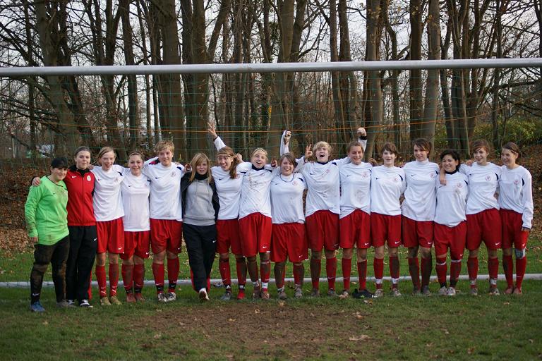 Mannschaft nach dem Sieg gegen Eintracht Frankfurt