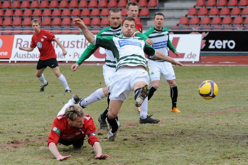 KSV Hessen - Greuther F�rth II: Dennis Tornieporth, Enrico Gaede, Thorsten Bauer