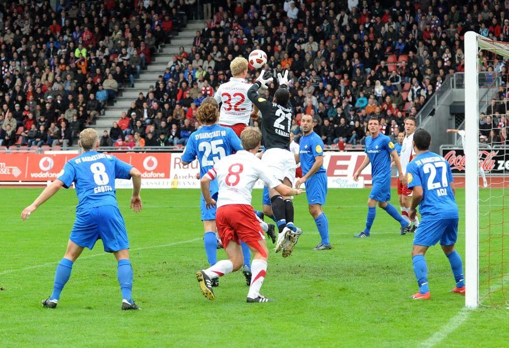 KSV Hessen - SV Darmstadt 98: Enrico Gaede, Sebastian Gundelach