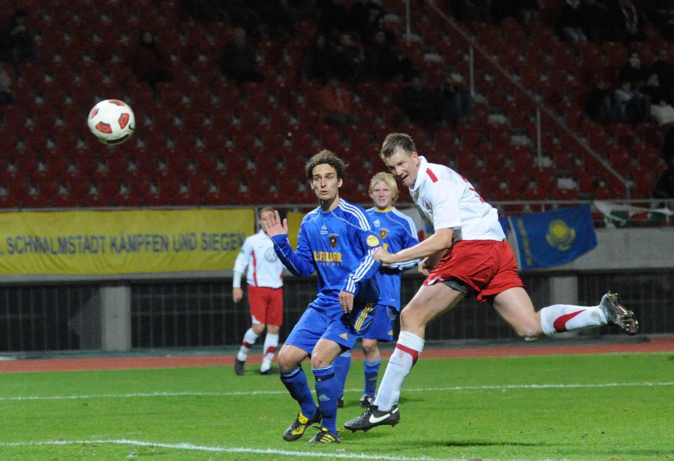 Thorsten Bauer hier beim Pokalspiel gegen Schwalmstadt