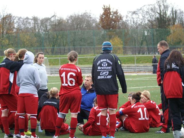 KSV B-Juniorinnen - JSG Altengronau / Jossa: Halbzeitbesprechung
