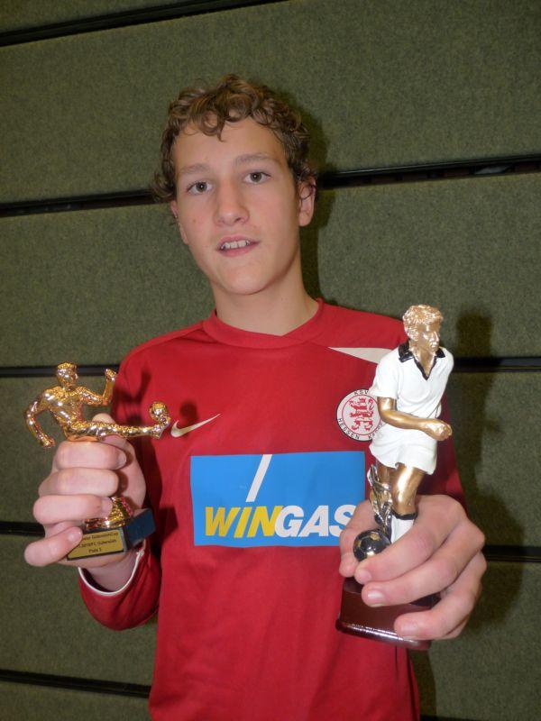 U13 Spieler Robin Kraft wurde als bester Spieler des Turniers ausgezeichnet