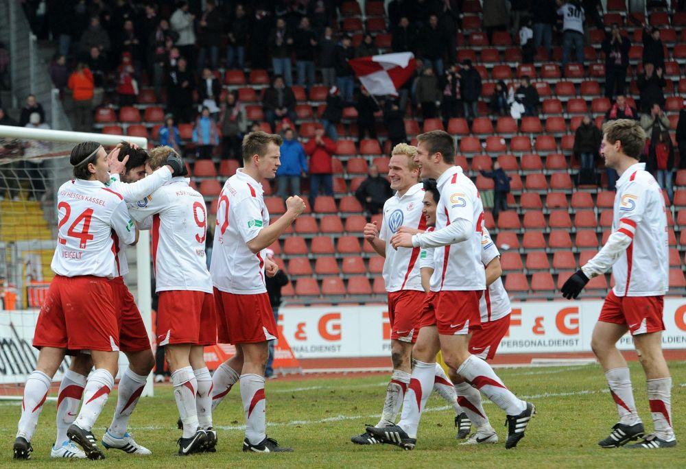 KSV Hessen - SC Freiburg II: Jubel