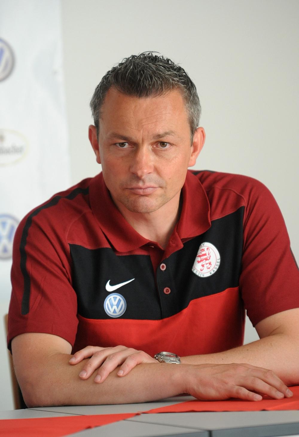 KSV Hessen - Stuttgarter Kickers: Trainer Christian Hock