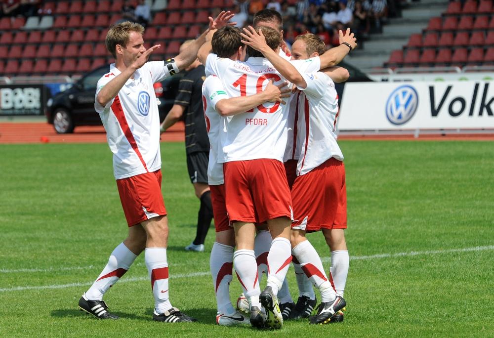 KSV Hessen - SV Wehen Wiesbaden II: Jubel