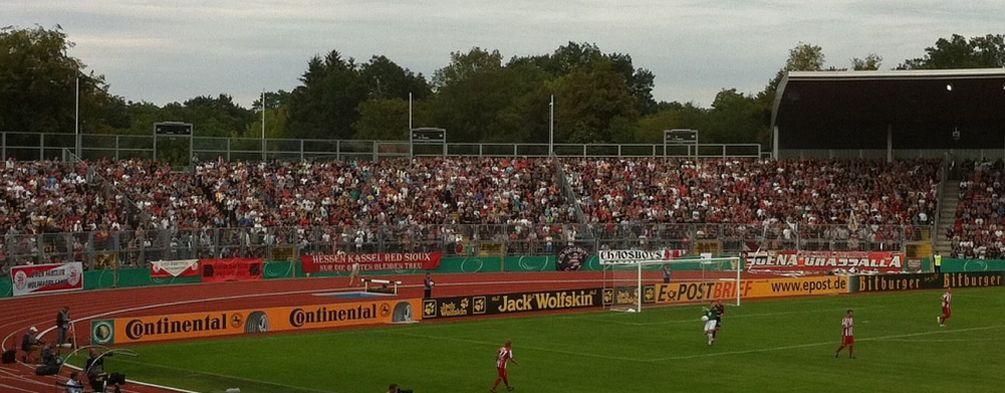 Blick auf die Nordkurve zum Pokalspiel gegen D�sseldorf
