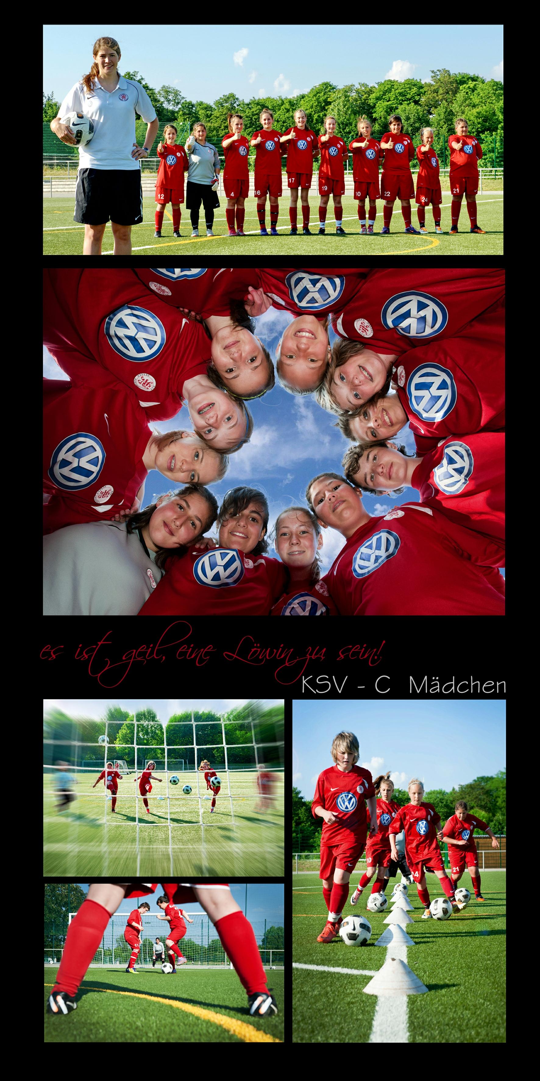 Fotoshooting mit den C-M�dchen: Collage