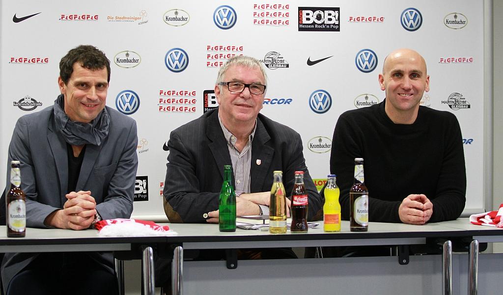 PK Trainervorstellung Matthias Mink, Hans- Jochem Weikert und Andre Schubert