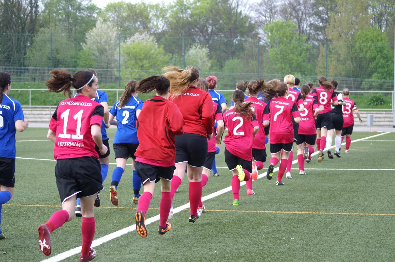 KSV Hessen Kassel Frauen - SV Gl�serzell II: Vor dem Anpfiff