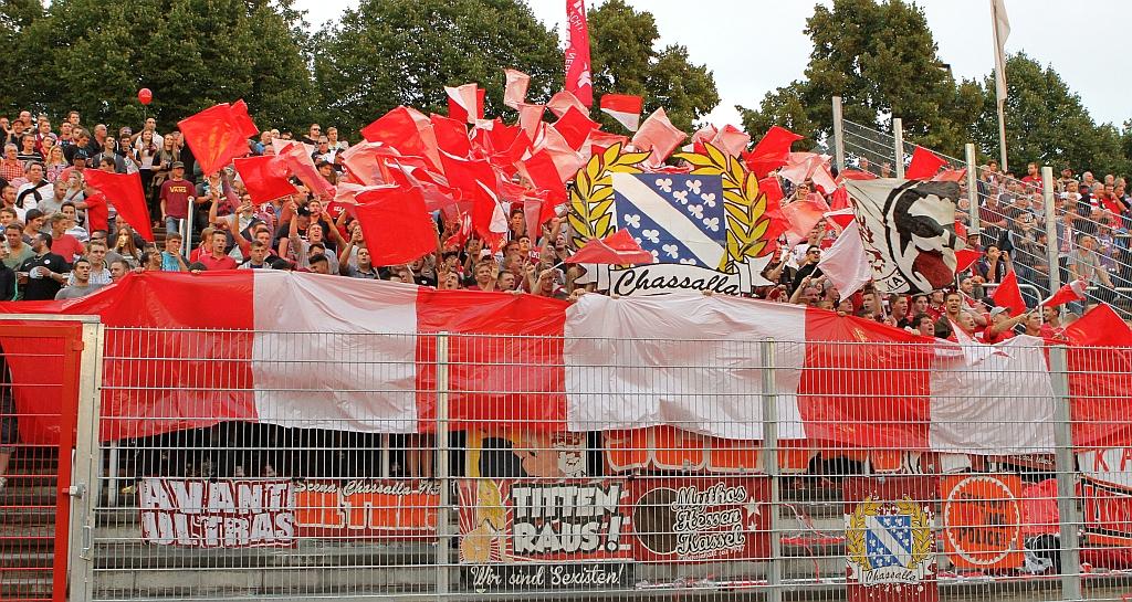 Ausw�rtsblock, Fans vom KSV Hessen Kassel