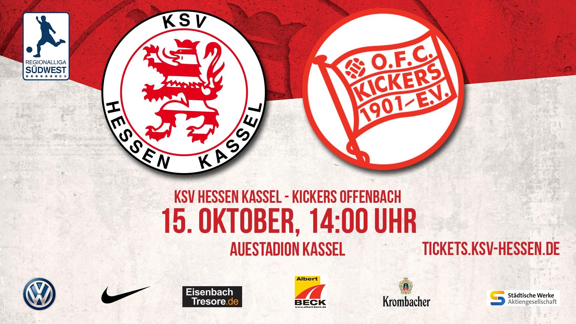 Spieltagsplakat KSV Hessen - Offenbach