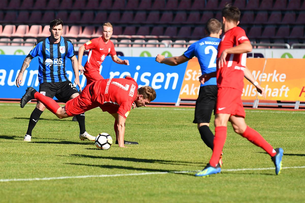 Lotto Hessenliga 2018/2019, KSV Hessen Kassel, SG Barockstadt Fulda-Lehnerz, Endstand 4:1, Sebastian Schmeer (KSV Hessen Kassel)