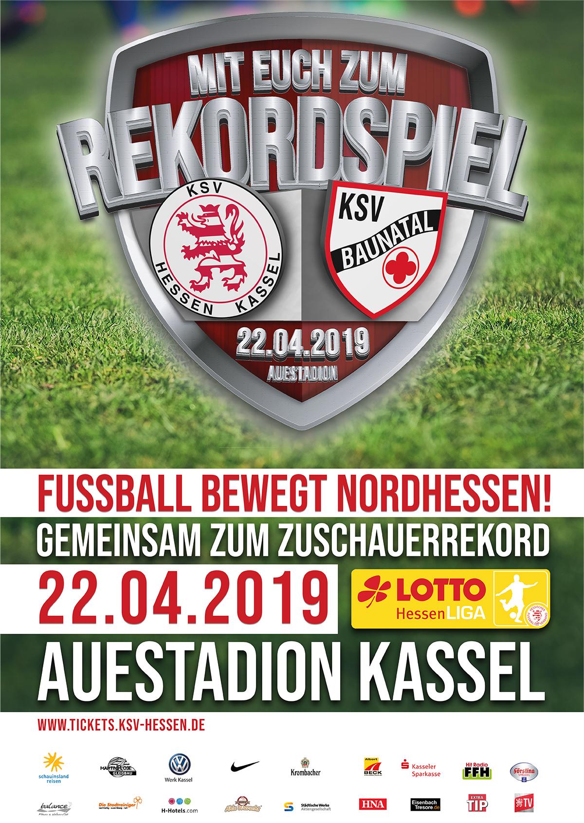 Rekordversuch Beim Derby Zwischen Dem Ksv Hessen Kassel Und