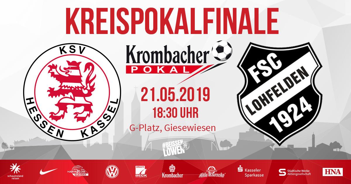 Krombacher Kreispokalfinale KSV Hessen - FSC Lohfelden