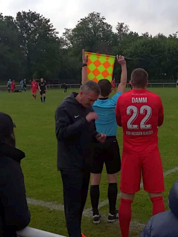 Krombacher Kreispokalfinale 2019, KSV Hessen Kassel, FSC Lohfelden, Einwechselung Tobias Damm