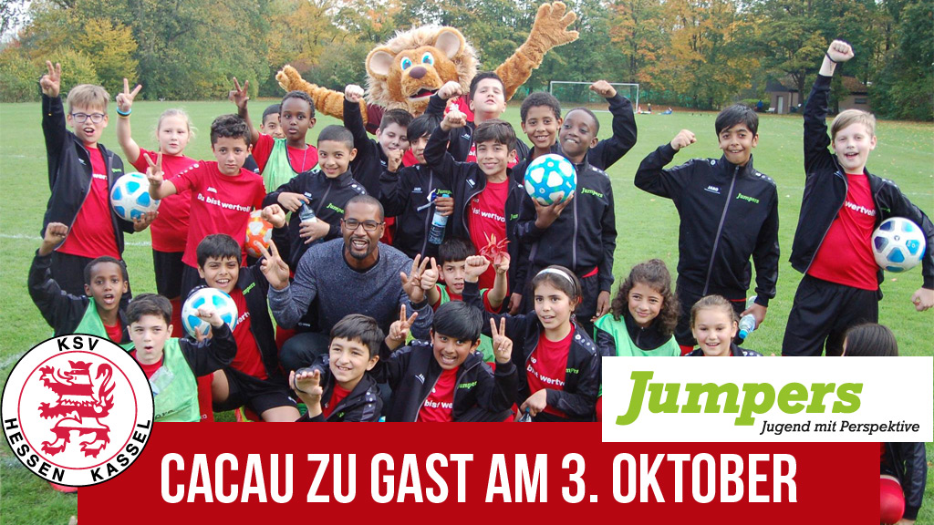 Jumpers und KSV laden zu Sport und Wort mit Cacau am 3.10.2019 zu Gast im Auestadion
