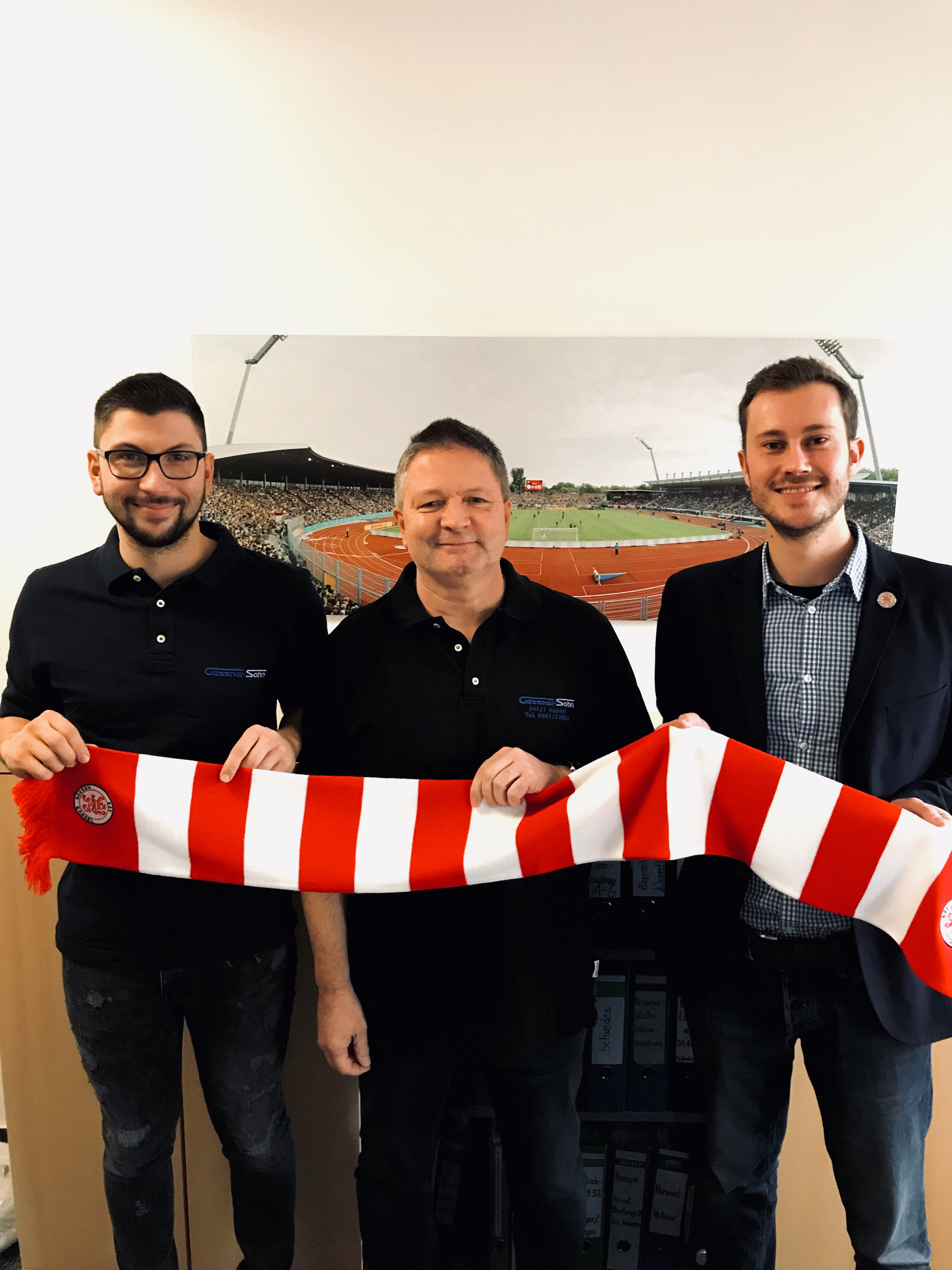 Marius Gessner, Hans-Martin Gessner und Dennis Frank-Böckmann