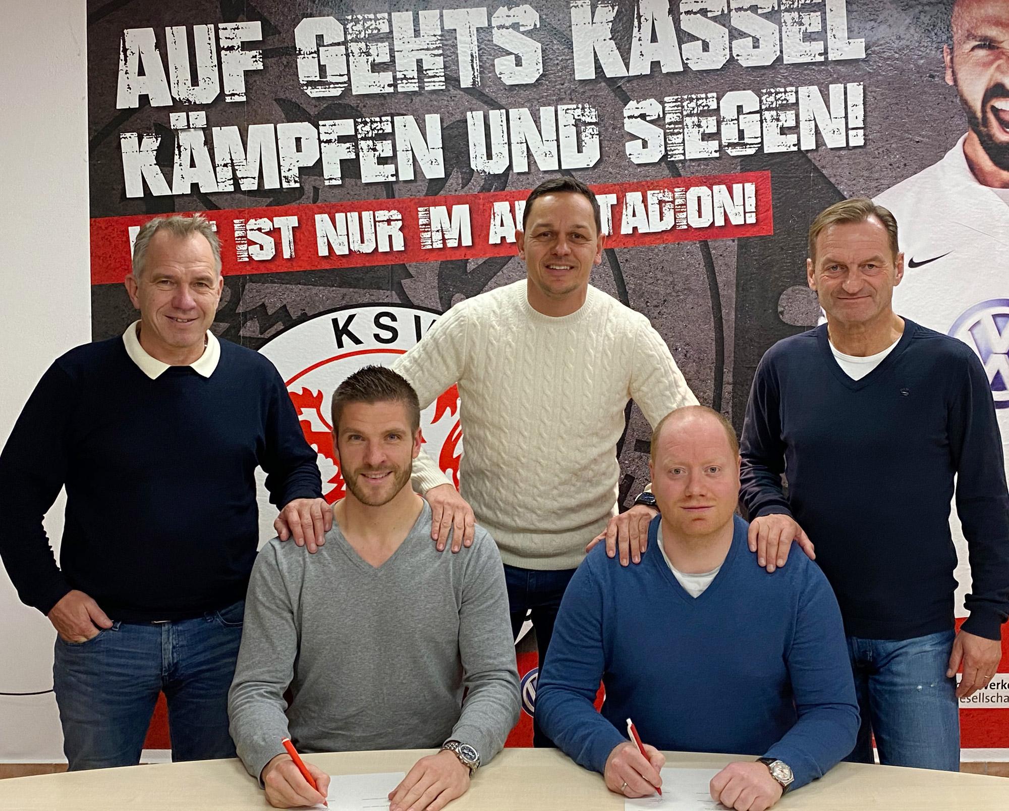v.l.n.r.: Jens Rose (KSV-Vorstand), Tobias Damm (Cheftrainer), Swen Meier (KSV-Vorstand), Sebastian Busch (Co-Trainer), Jörg Müller (sportliche Leitung)