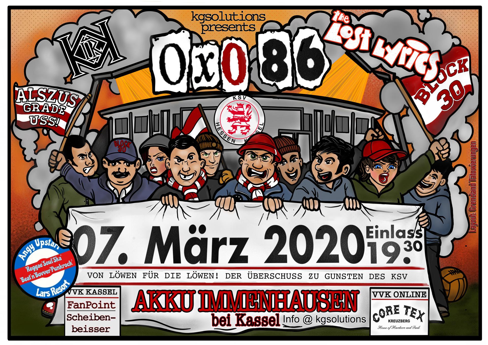 Von Löwen für Löwen - Konzert mit Oxo 86 am 7.3.2020 im Akku Immenhausen