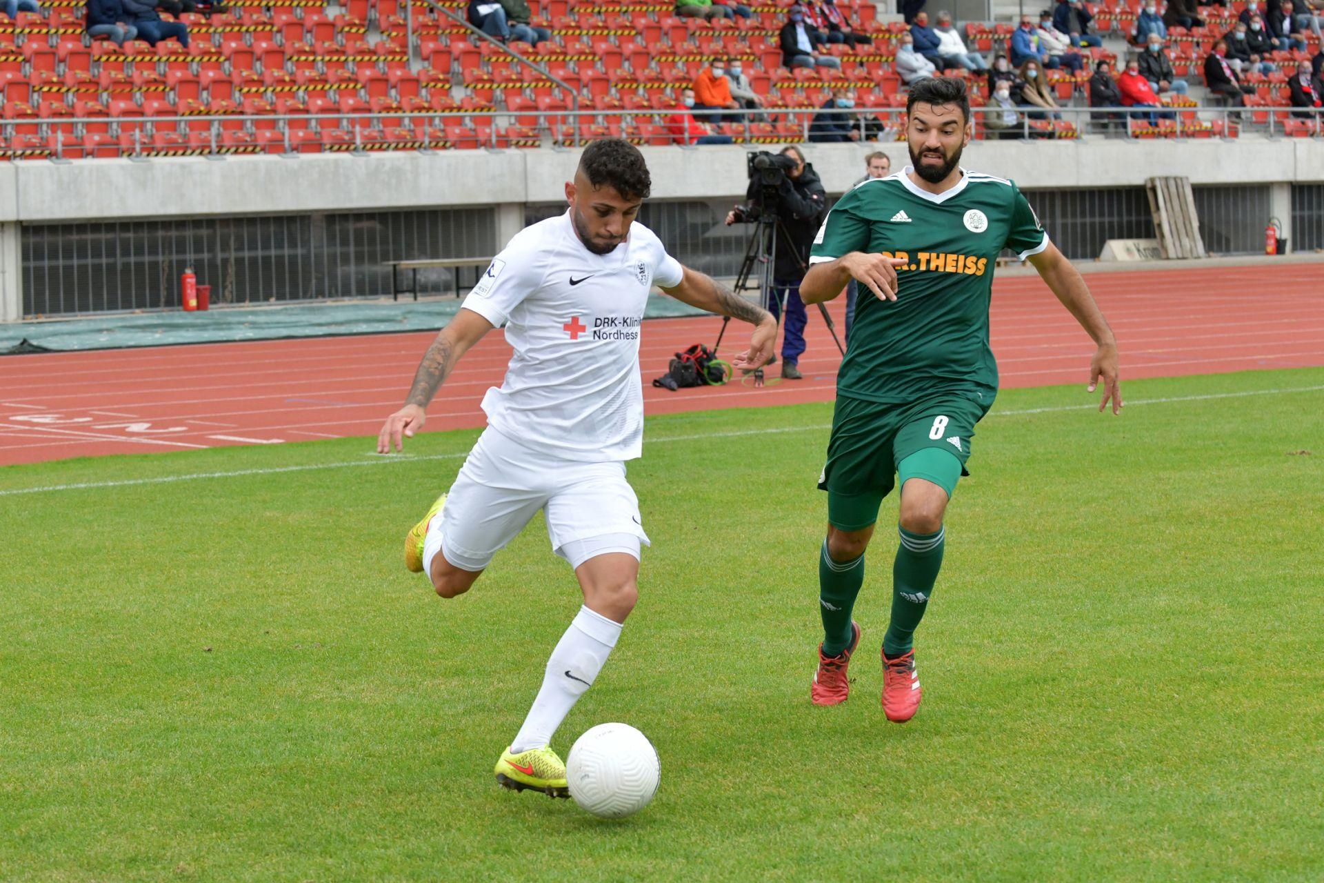Regionalliga S�dwest 2020/21, KSV Hessen Kassel, FC 08 Homburg, Endstand 0:1
