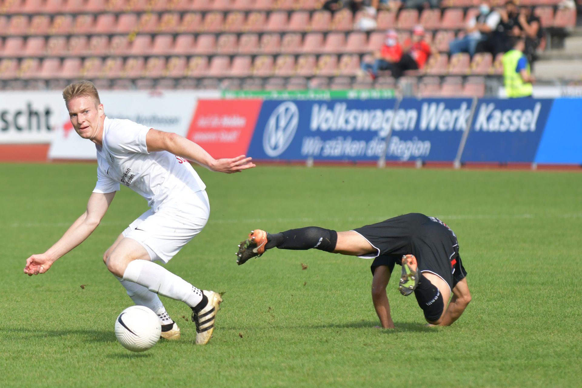 Regionalliga Südwest 2020/21, KSV Hessen Kassel, Rot-Weiss-Koblenz, Endstand 1:1, Brian Schwechel