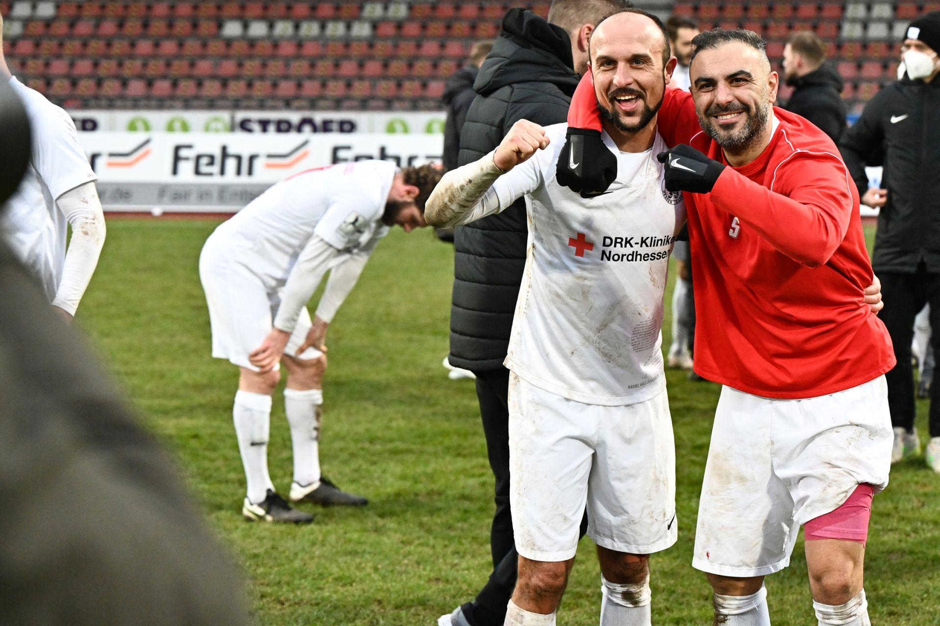 Regionalliga S�dwest 2020/21, KSVHessen Kassel, TSV Steinbach Haiger, Endstand 2:1