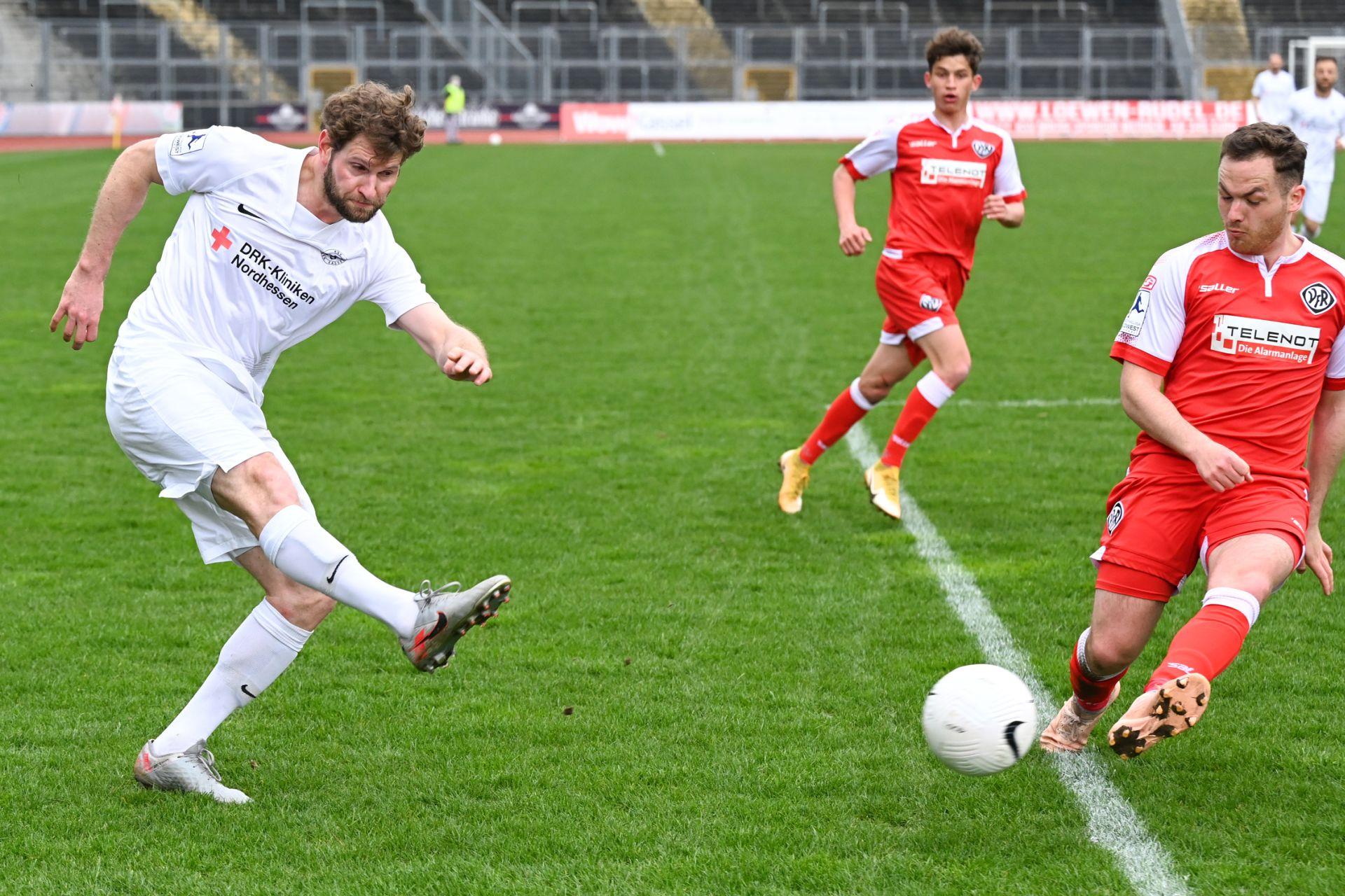 Regionalliga Südwest 2020/21, KSV Hessen Kassel, VfR Aalen, Endstand 1:1, Ingmar Merle