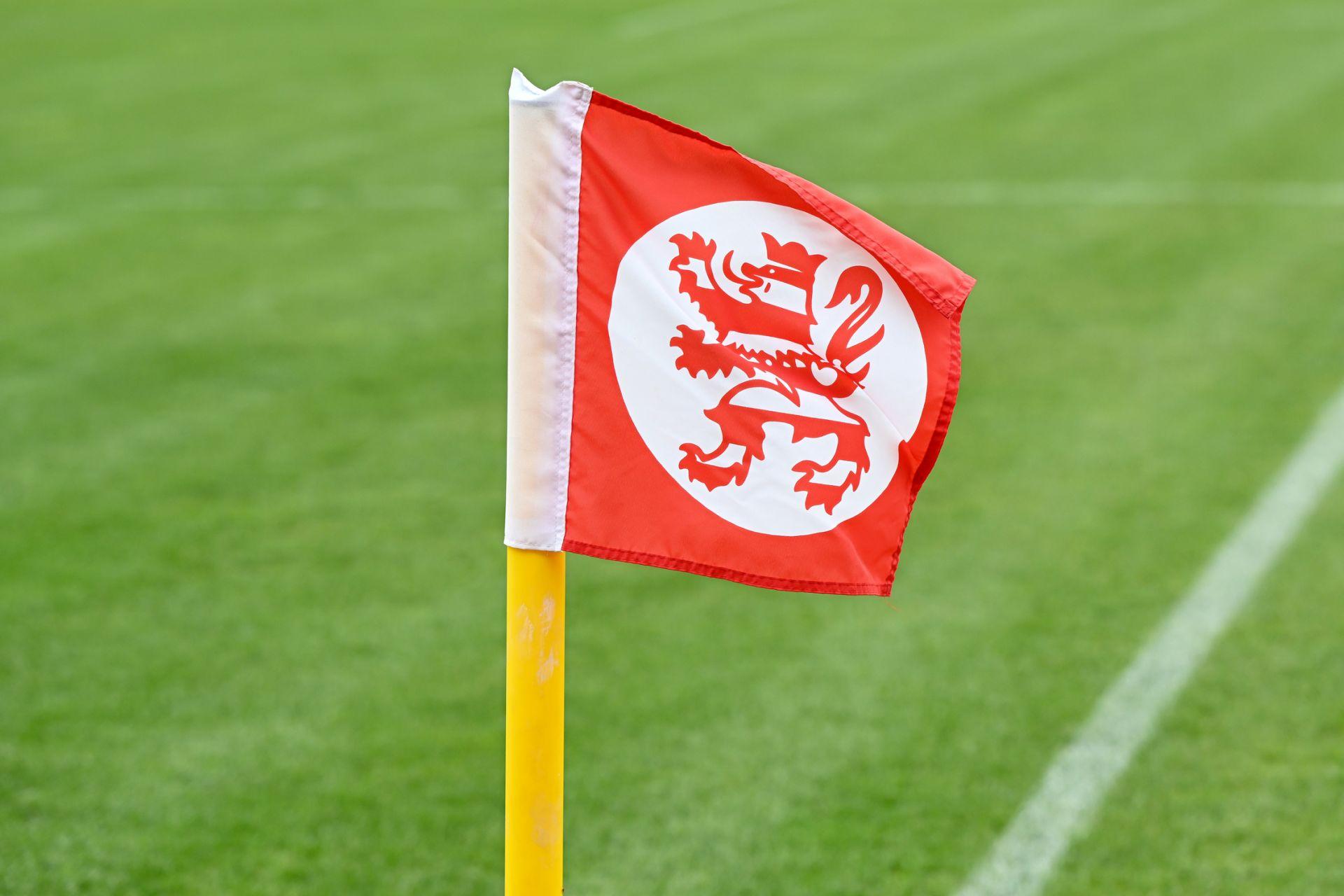Regionalliga Südwest 2020/21, KSV Hessen Kassel, Kickers Offenbach, Endstand 0:4, Eckfahne