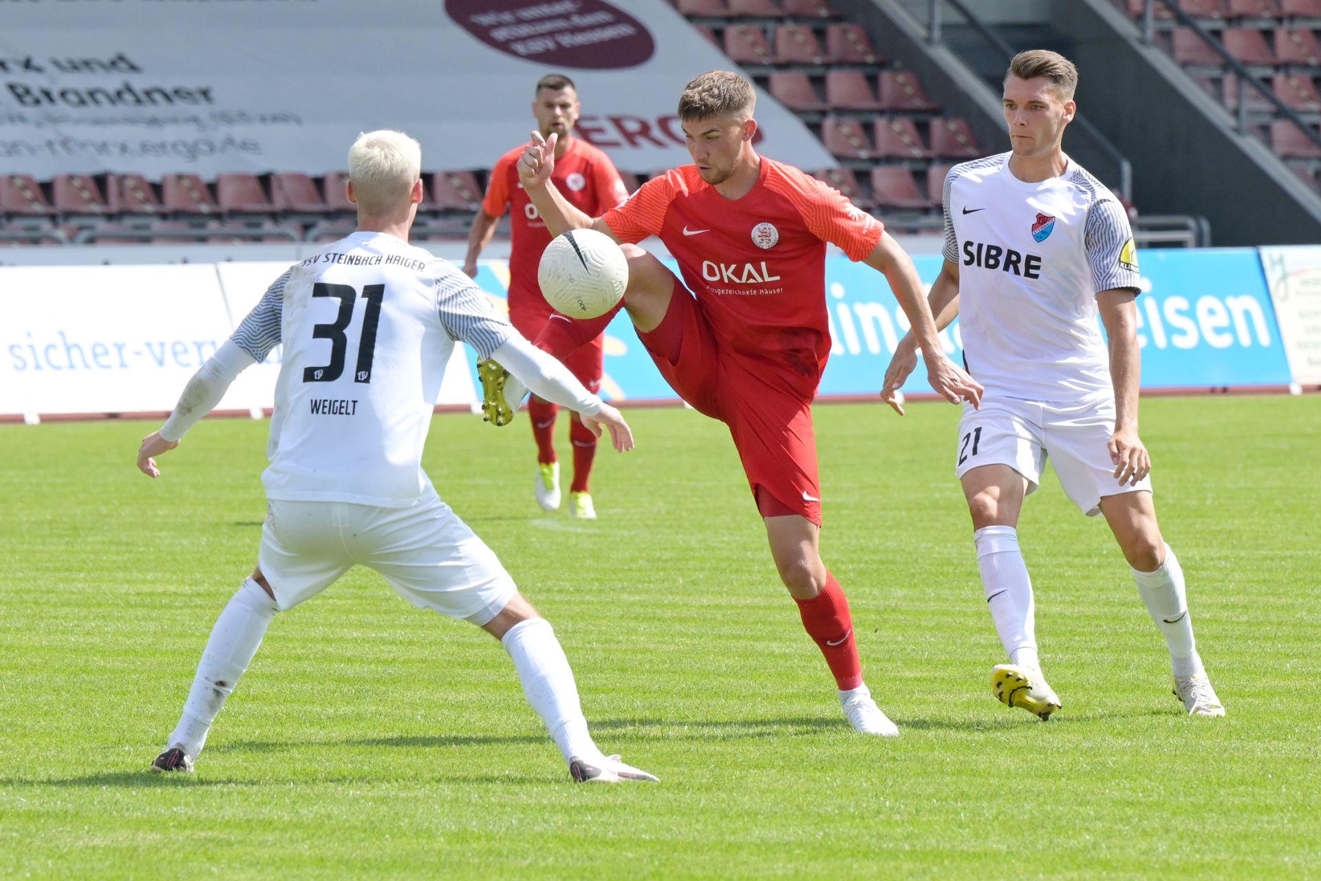 KSV Hessen Kassel, TSV Steinbach Haiger, Regionalliga S�dwest, saison 2021/22, Endstand 1:1