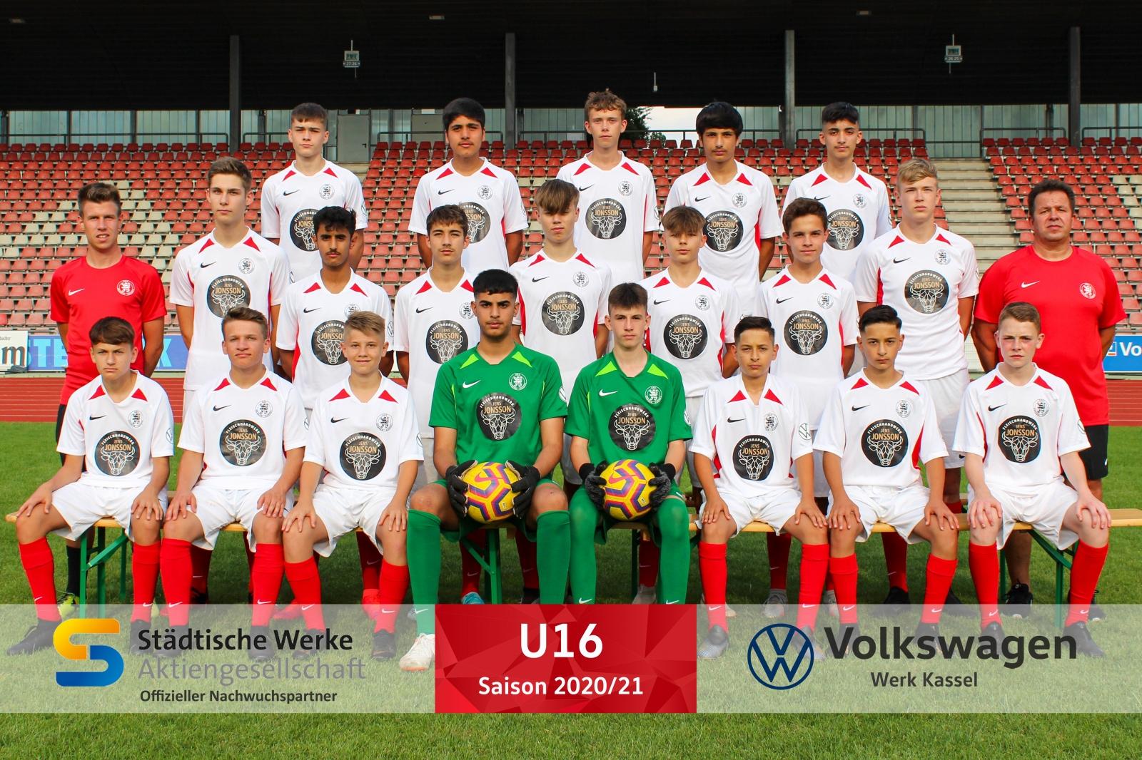 U16 Mannschaft 2020_21