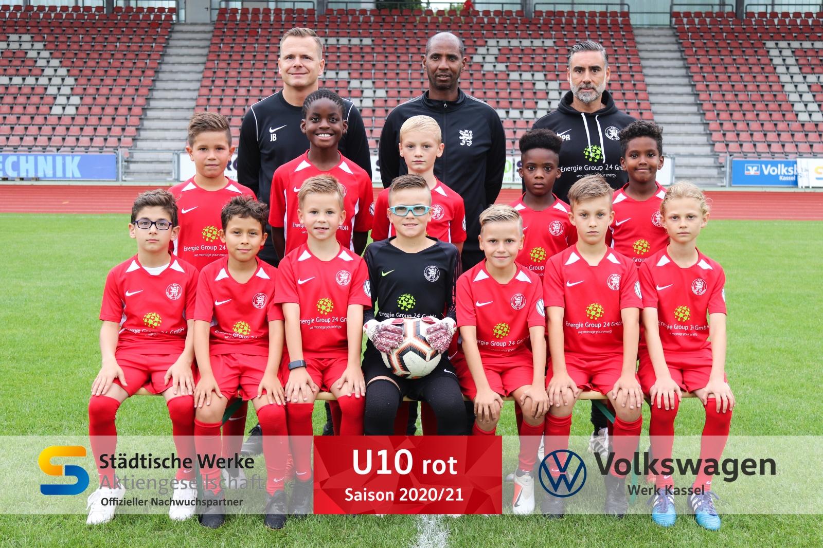 U10 (rot) Mannschaft 2020_21