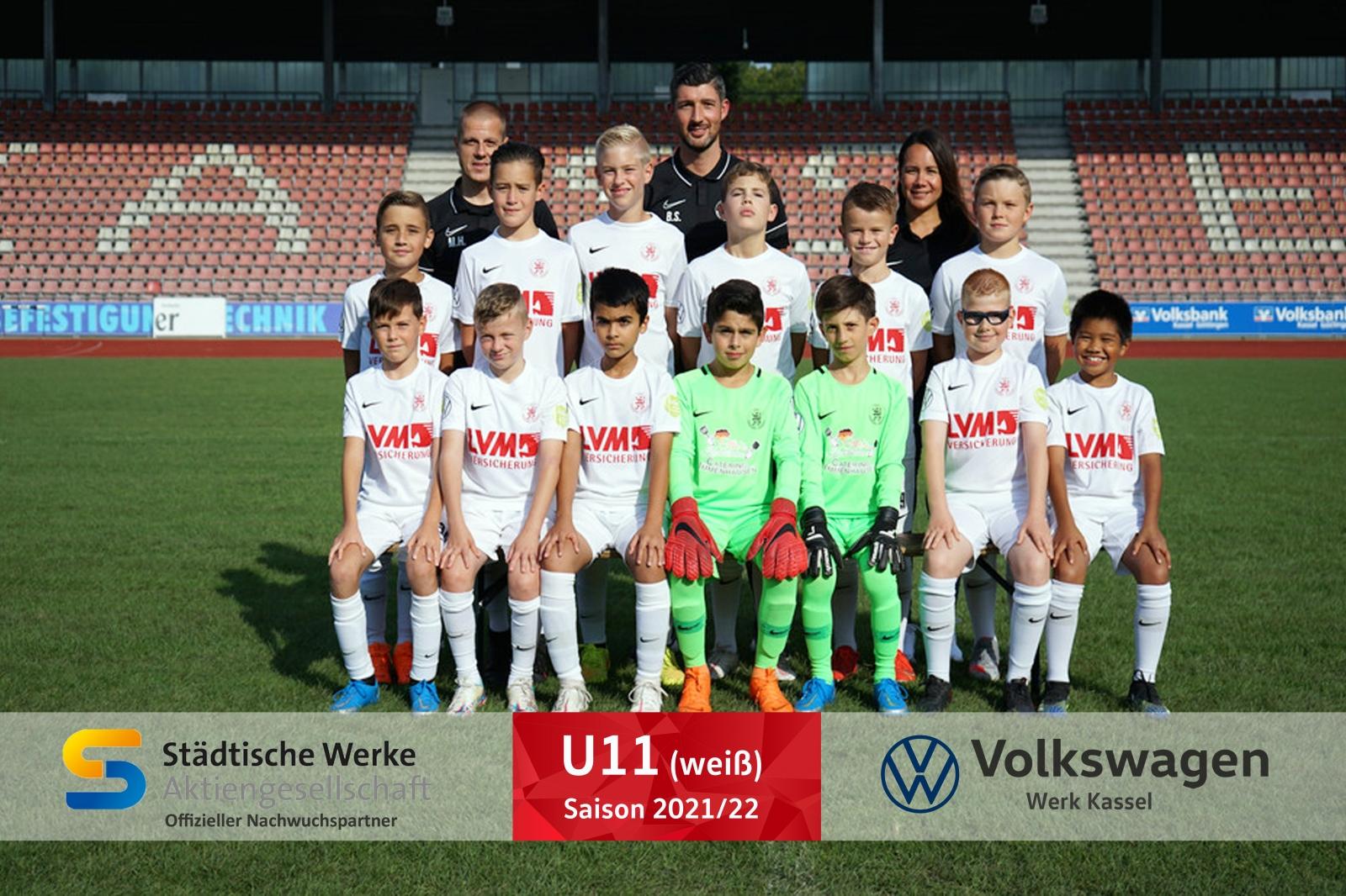 U11 weiss Mannschaft 2021_22
