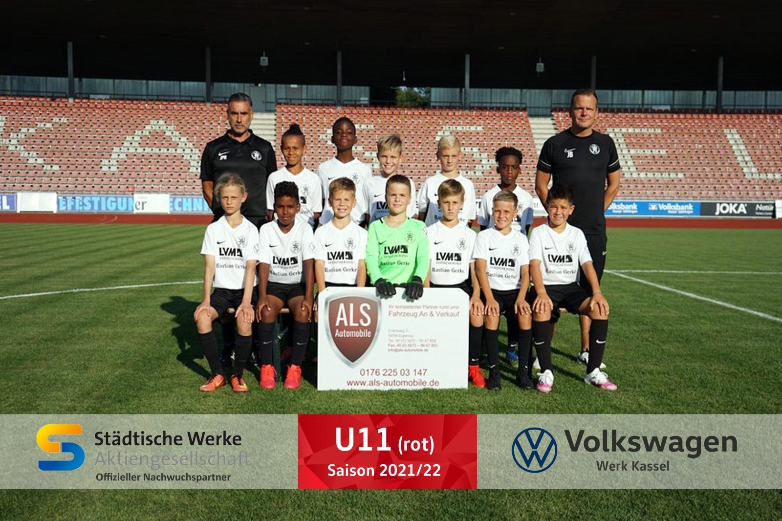 U11 rot Mannschaft 2021_22