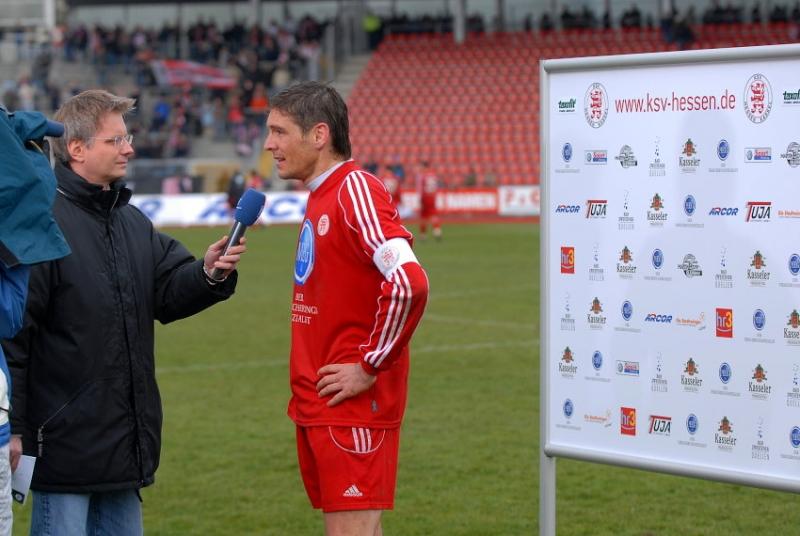 Torsch�tze Thorsten Sch�newolf (KSV Hessen Kassel) im HR-Interview