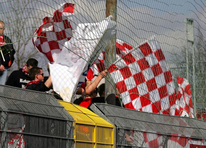 150 mitgereiste Fans - der Hessen-Kassel Fanblock.