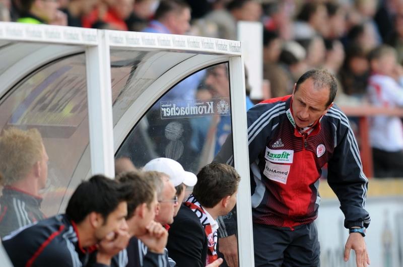 Bankgespr�che von Matthias Hamann (Trainer KSV Hessen Kassel )