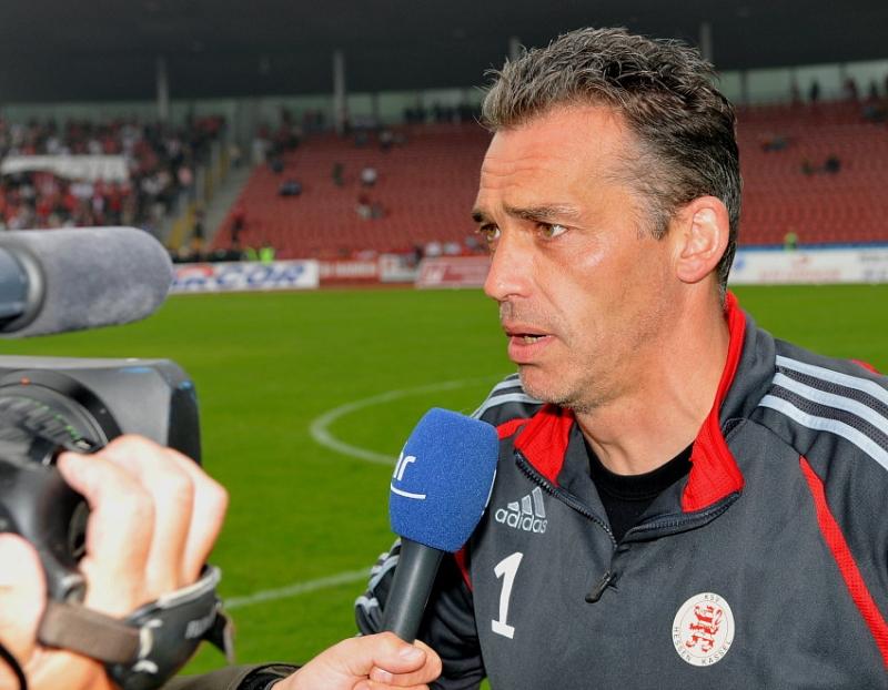 Oliver Adler (Torwart KSV Hessen Kassel) in Interview beim HR