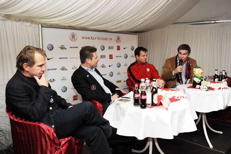 KSV Hessen - Greuther F�rth II: Pressekonferenz mit Jens Rose, Herbert Pumann, Mirko Dickhaut