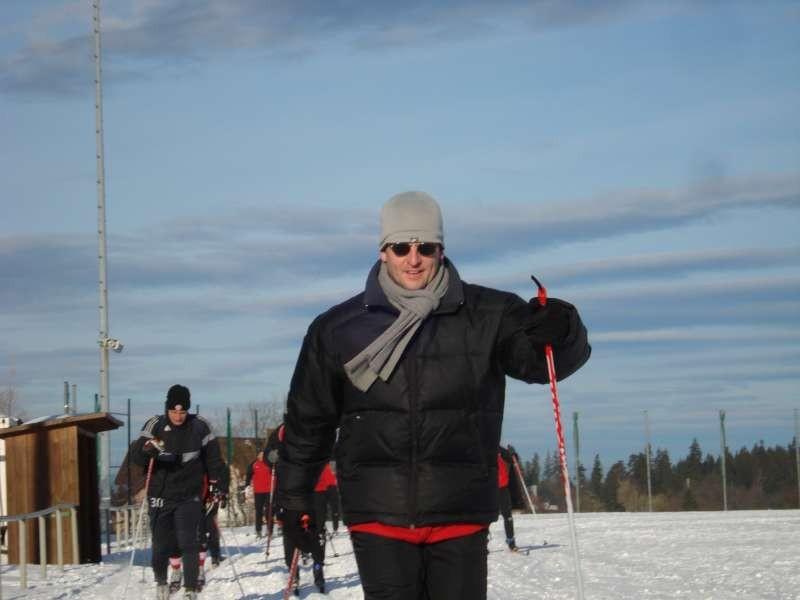 Trainer Mirko Dickhaut marschiert voran