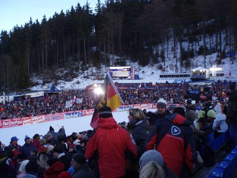 Zielzone Weltcup-Skispringen Willingen 2009