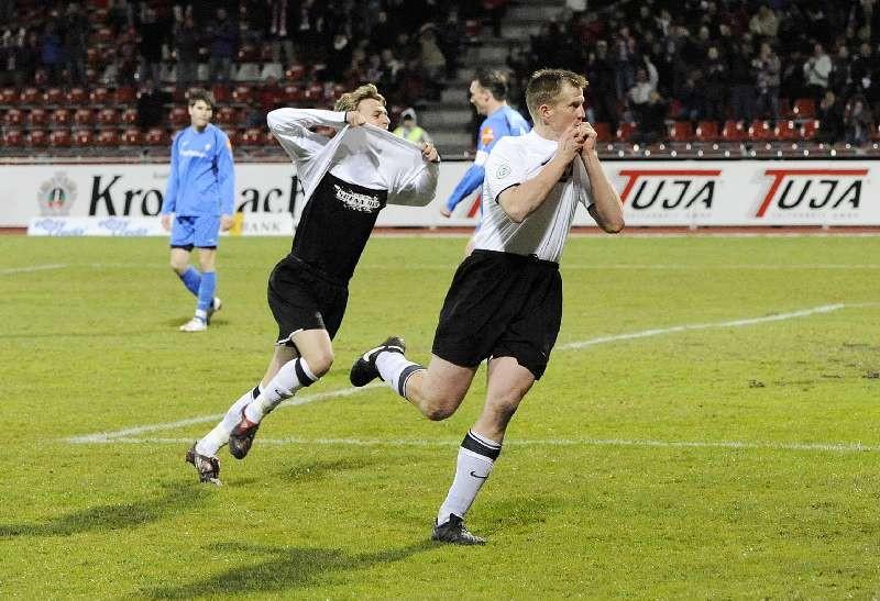 KSV Hessen - SV Darmstadt 98: Kevin W�lk und Thorsten Bauer