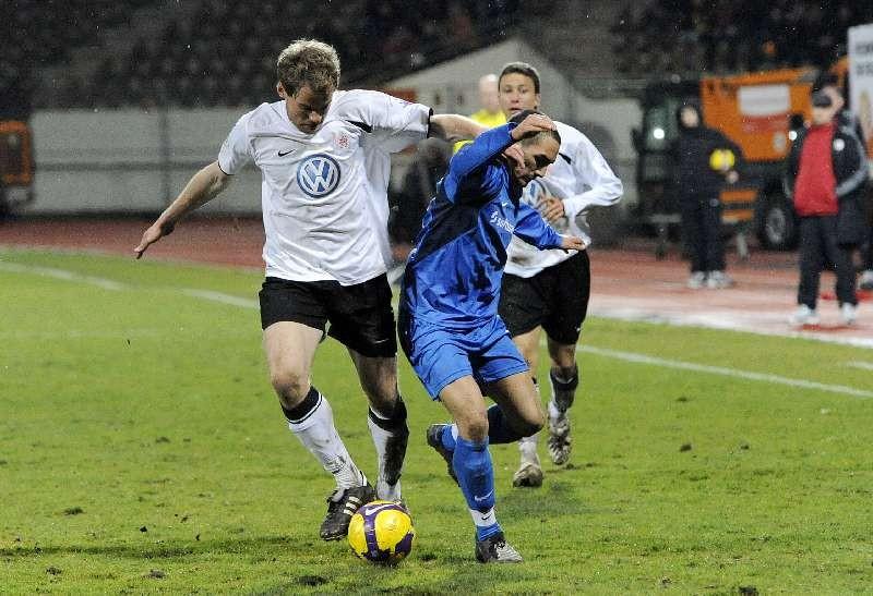 KSV Hessen - SV Darmstadt 98: Enrico Gaede und Florian Heussner